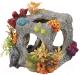 Декорация для аквариума Aqua Della Куб с кораллами / 234/222508 (серый) -