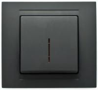 Выключатель Gunsan Moderna 01 29 34 00 150 102 (черный) -