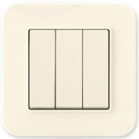 Выключатель Gunsan Eqona 01401200-150160 (кремовый) -