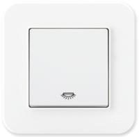 Выключатель Gunsan Eqona 01409300-150107 (белый) -