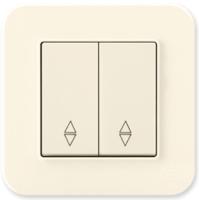 Выключатель Gunsan Eqona 01401200-150109 (кремовый) -