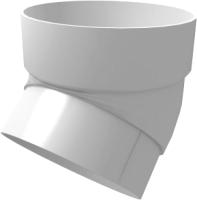 Колено для водостока Grand Line Стандарт ПВХ 45 градусов (белый) -