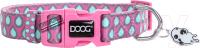 Ошейник DOOG Luna / COLPTD-XS (розовый с каплями) -