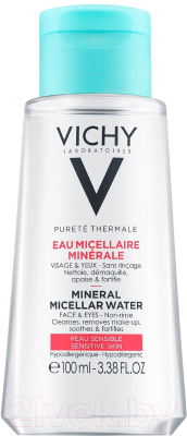 Мицеллярная вода Vichy Purete Thermale с минералами для чувствит. кожи лица глаз и губ (100мл)