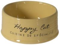 Миска для животных Duvo Plus Happy Cat / 11713/DV (желтый) -