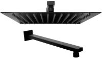 Верхний душ REA Ultra Slim Square 30 (черный матовый) -