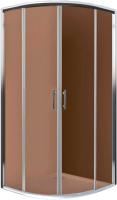 Душевой уголок Roth Cofe 90 R55 (хром/кофе) -