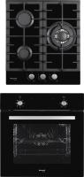 Комплект встраиваемой техники Weissgauff EOV18PB+HGG451BFh -