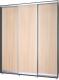 Шкаф Modern Роланд Р68 + Р18 (венге/дуб млечный) -