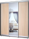 Шкаф Modern Роланд Р68 + Р28 (венге/дуб млечный) -