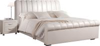 Двуспальная кровать ГрандМанар Линда ЛИ-003.03 160х200 (Chili White) -