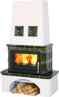 Печь-камин ABX Lombardie (зеленый) -