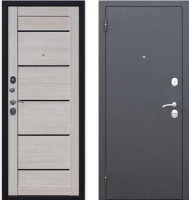 Входная дверь Юркас Гарда Муар Царга 6мм Лиственница мокко (86x205, левая) -