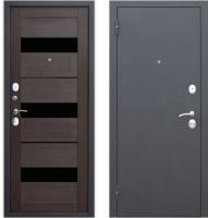 Входная дверь Юркас Гарда Муар Царга 6мм Темный кипарис (86x205, левая) -