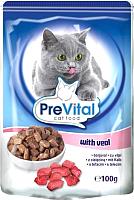 Корм для кошек Prevital Veal in gravy (100г) -