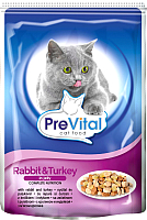 Корм для кошек Prevital Rabbit&Turkey in jelly (100г) -