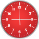 Настенные часы Centek СТ-7100 (красный) -