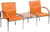 Секция стульев Nowy Styl Staff-2T Chrome (EV-2) -
