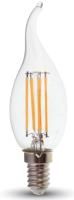 Лампа V-TAC 4 ВТ 400LM E14 2700K SKU-4302 (пламя свечи) -