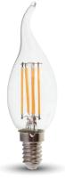 Лампа V-TAC 4 ВТ 400LM E14 4000K SKU-4429 (пламя свечи, прозрачное стекло) -