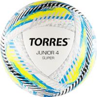 Футбольный мяч Torres Junior-4 Super / F319204 (р-р 4, белый/желтый/голубой) -
