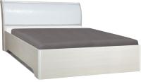 Полуторная кровать Олмеко Мона 06.298 (кожзам глянец/крокодил белый) -