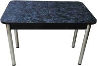Обеденный стол Solt Мила 2 (костило темный/ноги круглые хром) -