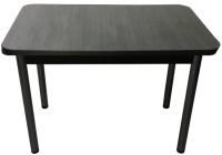 Обеденный стол Solt СТД-08 (северное дерево темное/ноги круглые черные) -