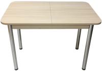 Обеденный стол Solt СТД-10 (шимо светлый/ноги круглые хром) -