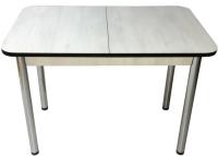 Обеденный стол Solt СТД-08 (северное дерево светлое/черный/ноги круглые хром) -