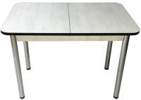 Обеденный стол Solt СТД-10 (северное дерево светлое/черный/ноги круглые хром) -