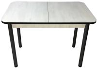 Обеденный стол Solt СТД-08 (северное дерево светлое/черный/ноги круглые черные) -