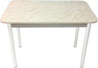 Обеденный стол Solt Молли 1 (мрамор белый/ноги круглые белые) -