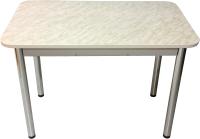 Обеденный стол Solt Молли 1 (мрамор белый/ноги круглые хром) -