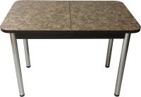 Обеденный стол Solt Мила 3 (умбрия/ноги круглые хром) -