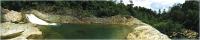 Скиналь Оптион Горы. Озеро в горах 3 (стекло, 1400x600x3) -