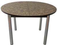 Обеденный стол Solt Круглый раздвижной (умбрия/ноги круглые хром) -