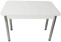 Обеденный стол Solt СТД-08 (белый/ноги круглые хром) -