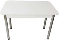 Обеденный стол Solt СТД-10 (белый/ноги круглые хром) -