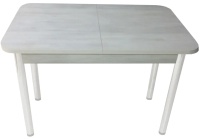Обеденный стол Solt СТД-10 (северное дерево светлое/ноги круглые белые) -