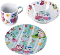 Набор столовой посуды Доляна Совушки / 3850494 (3 предмета) -