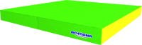 Гимнастический мат Romana 5.013.10 (светло-зеленый/желтый) -