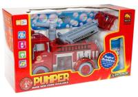 Радиоуправляемая игрушка Sima-Land Машина Пожарная служба / 4905814 (с мыльными пузырями) -