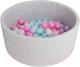 Игровой сухой бассейн Romana Airpool ДМФ-МК-02.53.01 (серый, 150 шариков ассорти с розовым) -