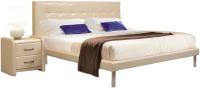 Двуспальная кровать ГрандМанар Тоскана ТО-017.03 160x200 (стейнлесс 703) -