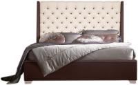 Двуспальная кровать ГрандМанар Марта МА-043.03 160x200 (стейнлесс 3004/стейнлесс 2) -