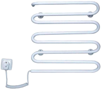 Полотенцесушитель электрический Элна Волна-8 55x42 (белый, левое подключение) -