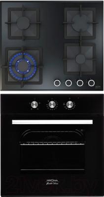 Комплект встраиваемой техники Krona Essenza 60 BL + Calore 60 BL