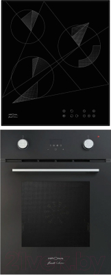 Комплект встраиваемой техники Krona Sonata 45 BL + Fidato 45 BL