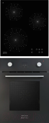 Комплект встраиваемой техники Krona Sonata 45 BL + Inizio 45 BL